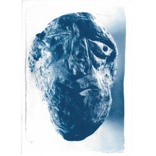 Cyanotype Print - Rock Face Sculpture
