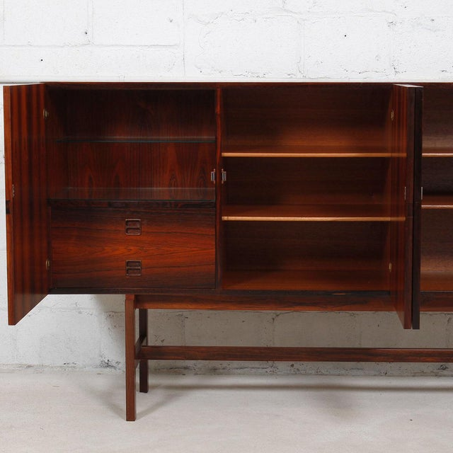 Ib Kofod-Larsen Danish Modern Rosewood Highboard - Image 9 of 10