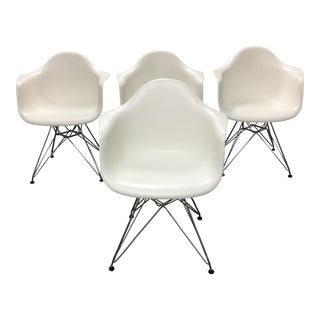 DWR Eames Molded Plastic Wire-Base Armchairs - Set of 4