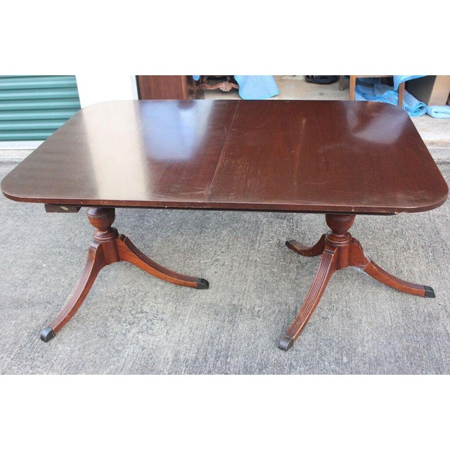 Mahogany Duncan-Phyfe Dining Table - Image 5 of 5