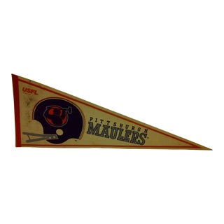 """Vintage USFL """"Pittsburgh Maulers"""" Team Pennant 1982"""