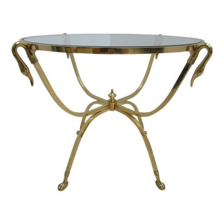 Brass French Regency Hoof Foot Lamp End Table
