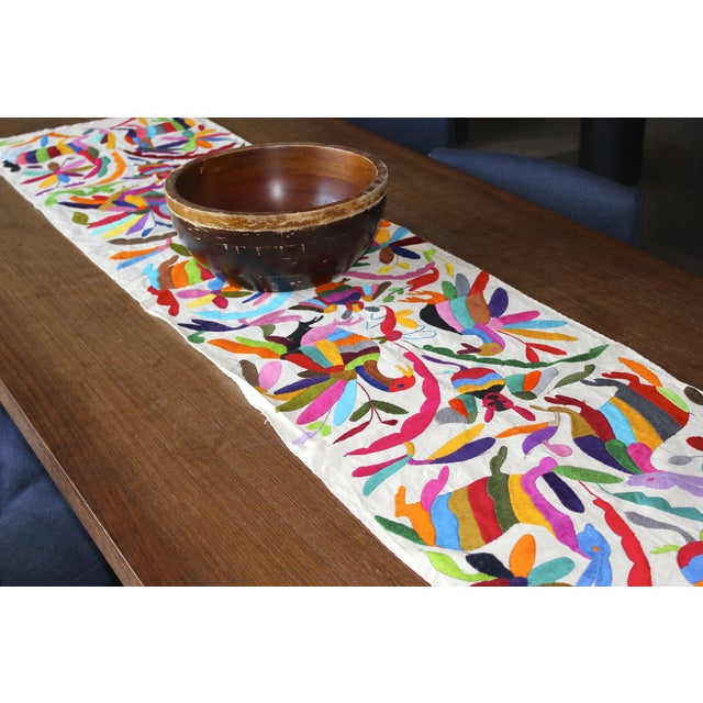 Multicolor Hand-Woven Tenango Table-Runner - Image 3 of 3