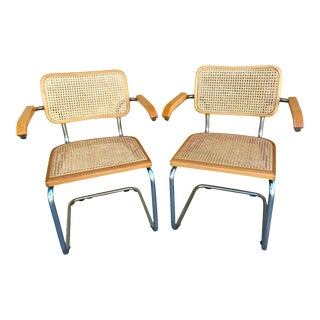 Classic Mid-Century Cesca Chairs - A Pair