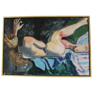 Vintage Nude, Horizontal Oil on Canvas