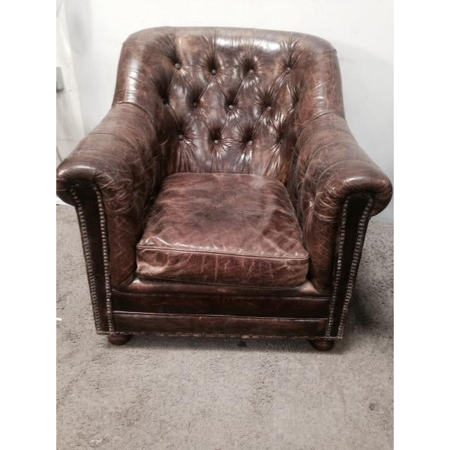 Leather Club Chairs - Pair - Image 4 of 11