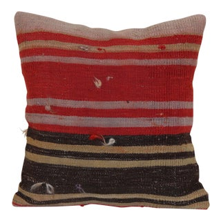 Red Oriental Kilim Rug Pillow