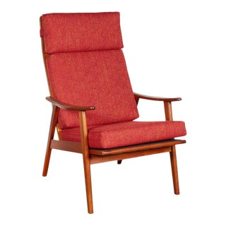 Danish Modern High Back Arm Chair