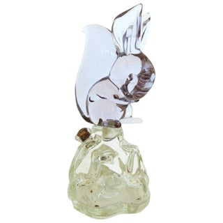 Archimede Seguso Alabastro Murano Squirrel Decanter Bottle