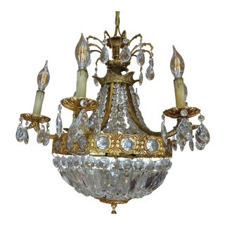French Crystal Empire Style Chandelier