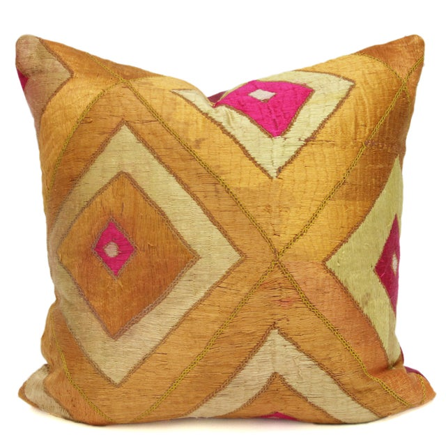 Majestic Bagh Phulkari Pillow - Image 1 of 3