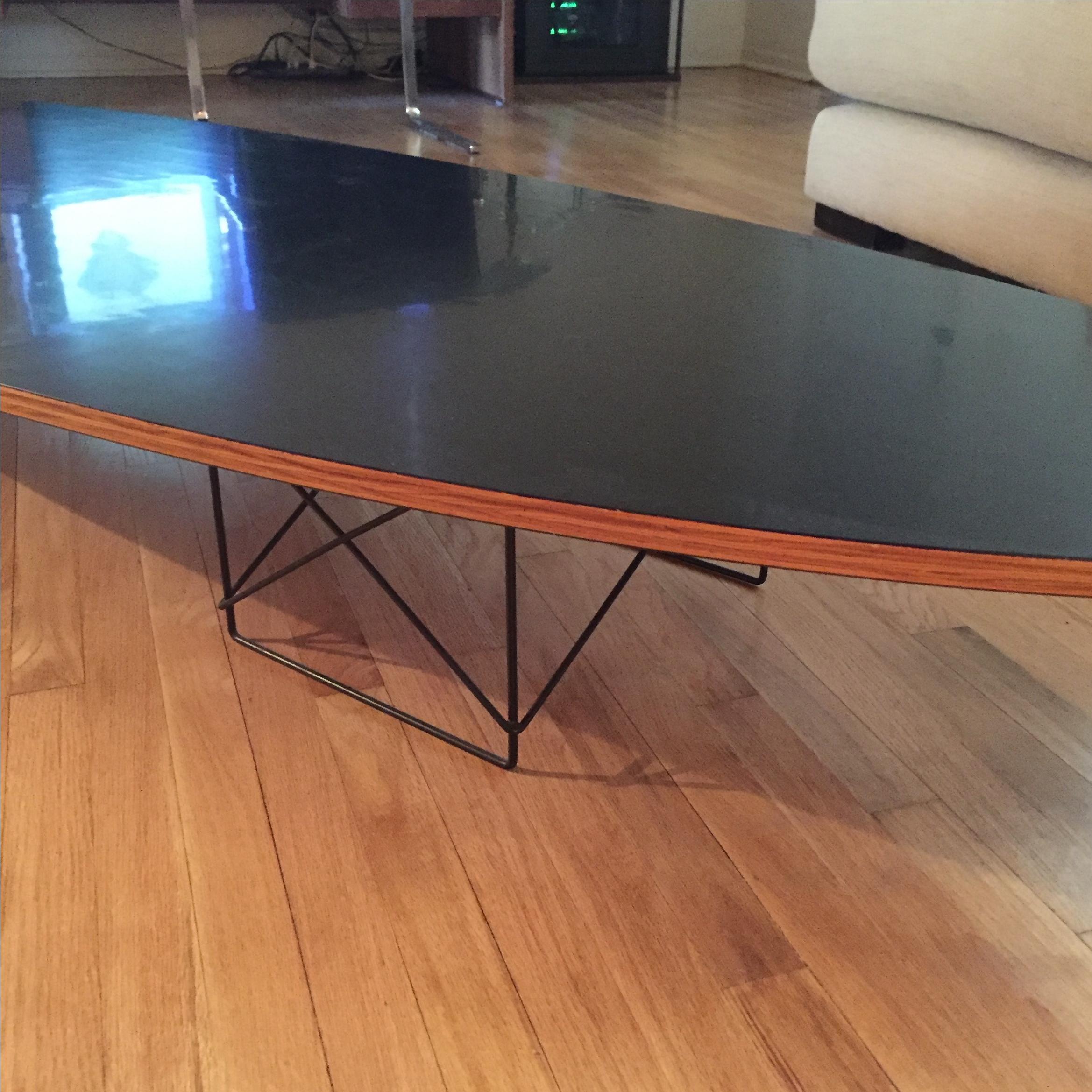 Vintage Eames Surfboard Coffee Table   Image 4 Of 10