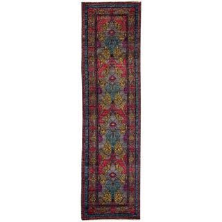"""Arts & Crafts Hand Knotted Runner - 2'7"""" X 10'2"""""""