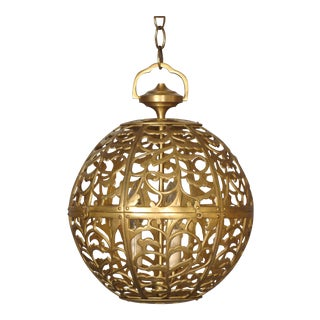 Vintage Brass Globe Light