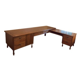 Guy Chaddock Madera Inspired Custom Pine L Shaped Desk