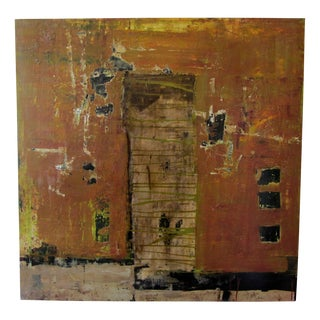 """John McCaw """"Structure with Earth Tones"""" Signed Original Painting"""