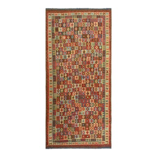 Kilim Arya Darron Red & Blue Wool Rug - 8′1″ × 16′6″