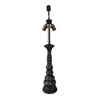 Champleve Enameled Column Lamp