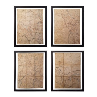 Antique Ny State Survey Maps - Set of 4