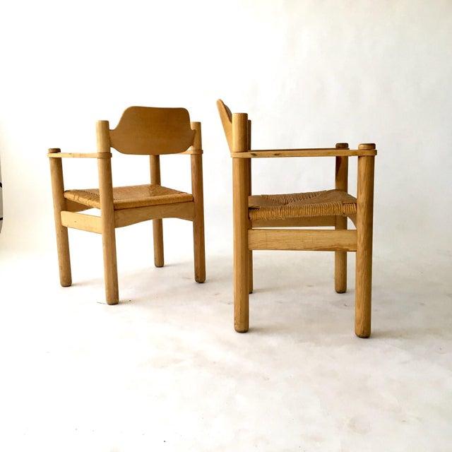 Italian Rush Seat Armchairs - Pair - Image 4 of 6