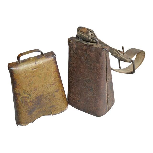 Antique Primitive Cow Bells - A Pair - Image 1 of 4