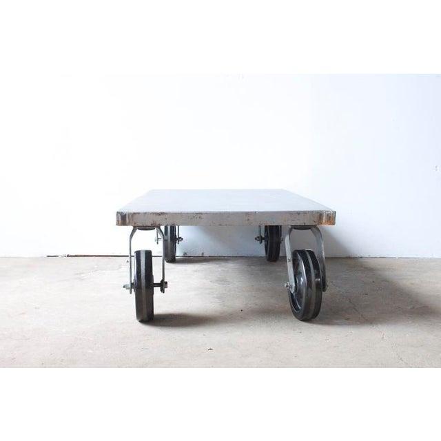 Industrial Metal Coffee Table - Image 3 of 7