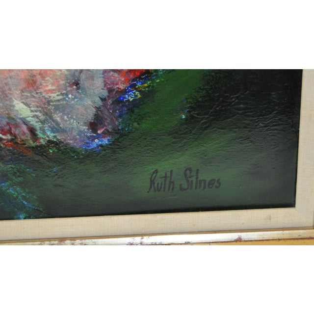 Ruth Silnes 1960'S Acrylic Abstract Painting - Image 4 of 5