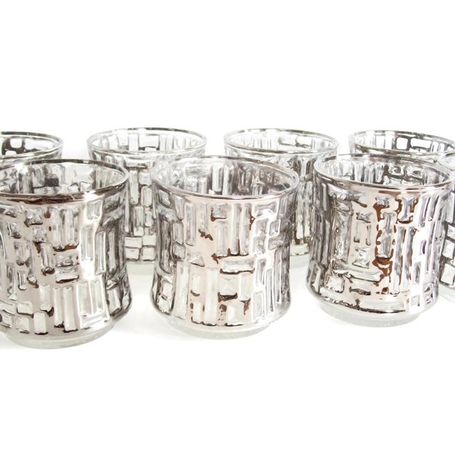 Mid-Century Artica Lowball Glasses, Silver Bamboo - Image 6 of 7