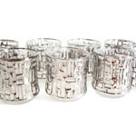Image of Mid-Century Artica Lowball Glasses, Silver Bamboo