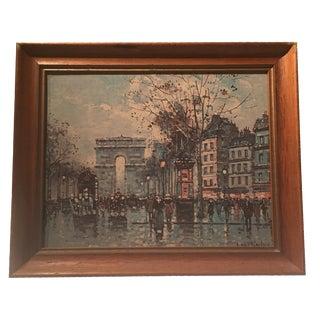 Framed Vintage Paris Promenade by Blanchard