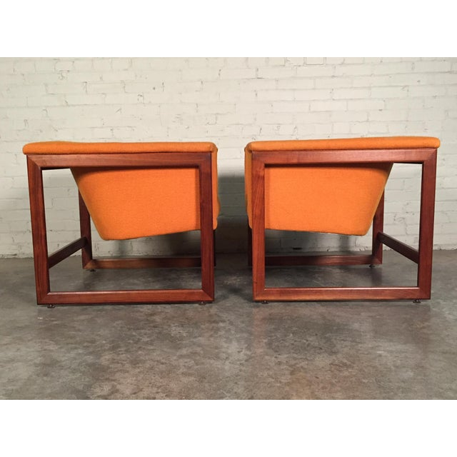 Milo Baughman Mid-Century Modern Floating Cube Chairs - A Pair - Image 8 of 10