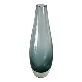 Scandinavian Turquoise Art Glass Vase