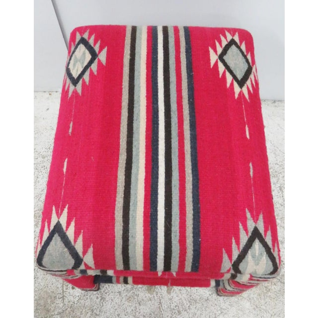 Mid-Century Aztec Parsons Style Stool - Image 2 of 4