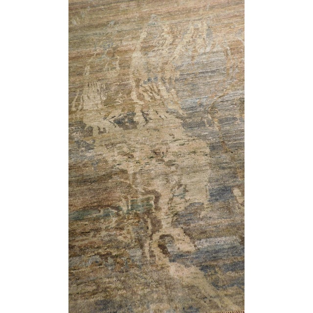 """Abstract Hand-Knotted Rug - 8′ × 9′11"""" - Image 4 of 10"""