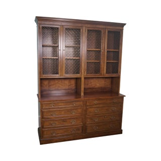 Baker Collectors Edition Walnut Office Credenza Bookcase