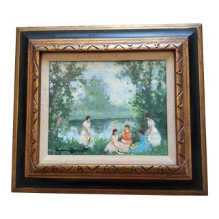 French Mid Century Inpressionistic Painting
