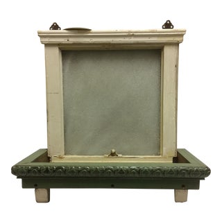 Vintage Sugar Glass Window Box Shelf