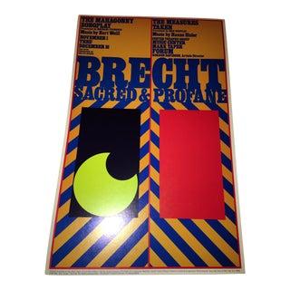 1973 Brecht Sacred & Profane Original Poster