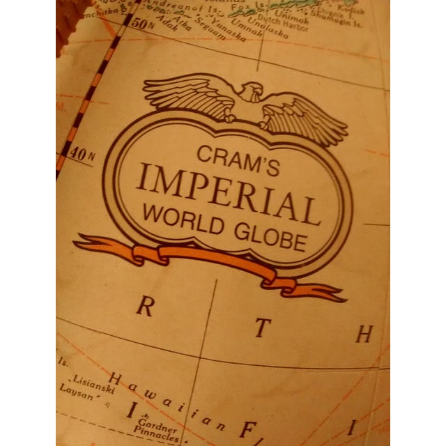 MCM Crams Imperial World Globe on Wooden Stand - Image 9 of 10
