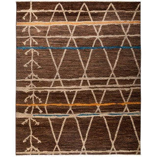 """Moroccan Style Hand Knotted Area Rug - 8'3"""" X 10'"""