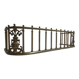 Antique Brass Carved Regency Fireplace Screen