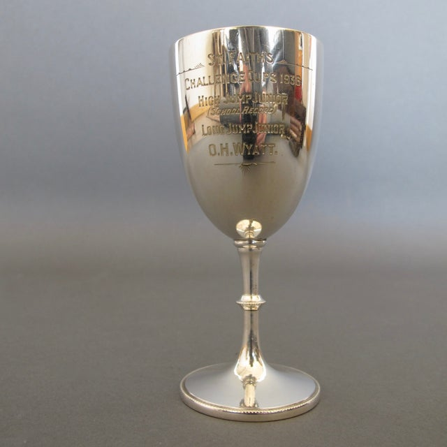 Image of English Silver Plate Goblet Trophy