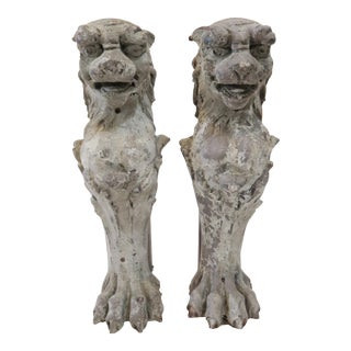 Lion Fireplace Bracket Molds - A Pair