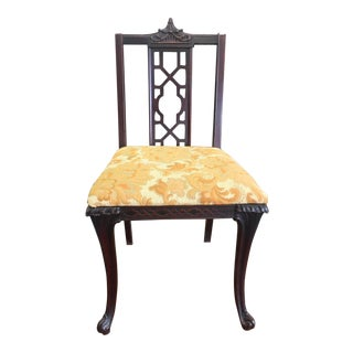 Mid-Century Chinoiserie Fretwork Pagoda Chair