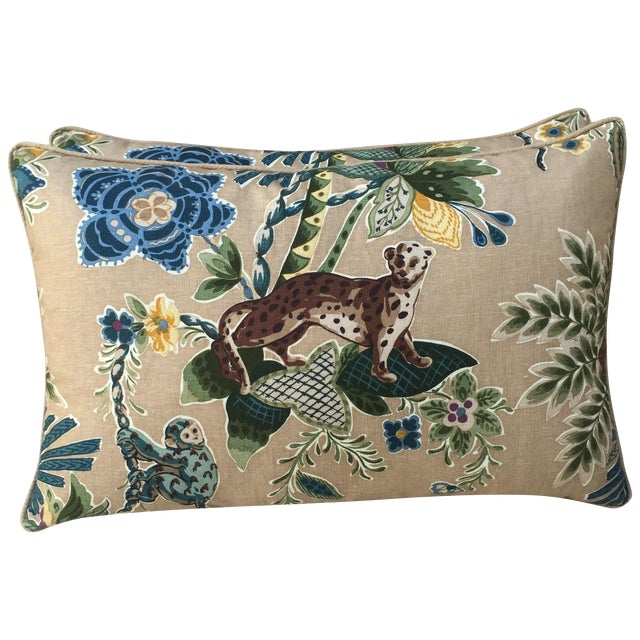Cowtan & Tout Printed Jungle Pillows - A Pair - Image 1 of 5