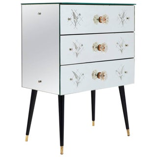 Vintage French Art Deco Mirrored Chest