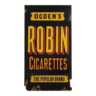 Vintage English Enamel Cigarette Advertisement