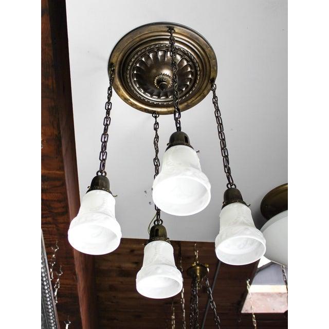 Embossed Flush Mount Light Fixture (4-Light) - Image 2 of 7