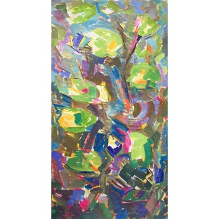 """Waterlilies"" Large Abstract Painting by Trixie Pitts"