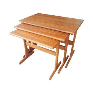 Danish Modern Teak Nesting Tables - Set of 3